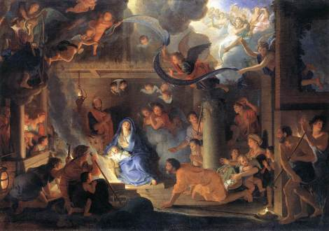 The Adoration of the Shepherds by Charles Le Brun