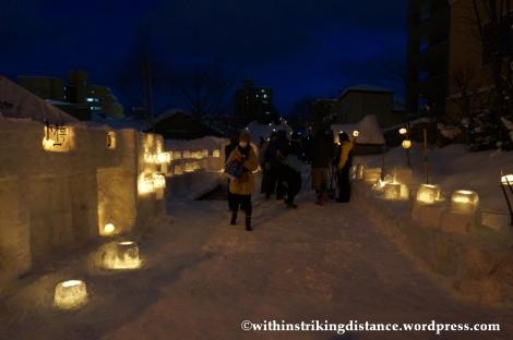 07Feb14 Otaru Snow Light Path 001