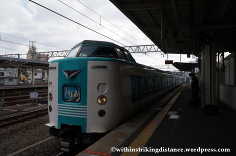 11Feb14 JR West 381 series Kuroshio 001