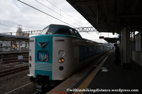 11Feb14 JR West 381 series Kuroshio 001