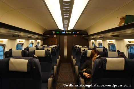 12Feb14 N700 Series Shinkansen Green Car 007