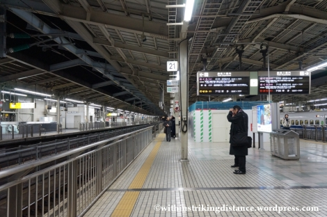 12Feb14 Shin Osaka Station shinkansen platform 001