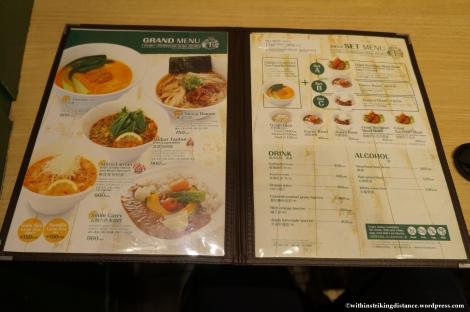 14Feb14 Ts Tan Tan Vegetarian Restaurant Tokyo Japan Menu 002