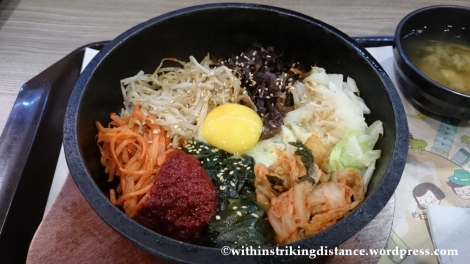 07Nov14 002 Vegetarian Bibimbap Taoyuan International Airport Taipei Taiwan