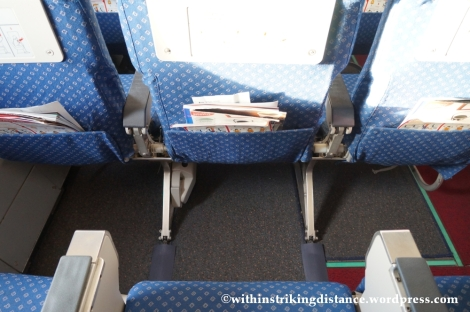 10Dec14 008 A320-200 Seats  Exit Row Legroom Economy Class Air Asia Zest Z2 884 Manila Seoul Incheon