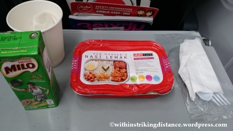 13Dec14 010 Nasi Lemak Inflight Meal Economy Class Air Asia Zest Z2 85 Seoul Incheon Manila