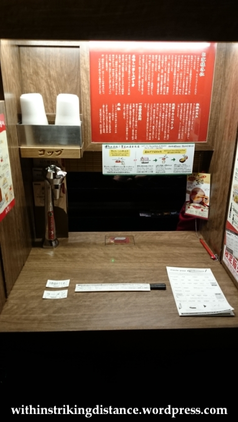 23Nov14 011 Ichiran Ramen Dotombori Osaka Kansai Japan