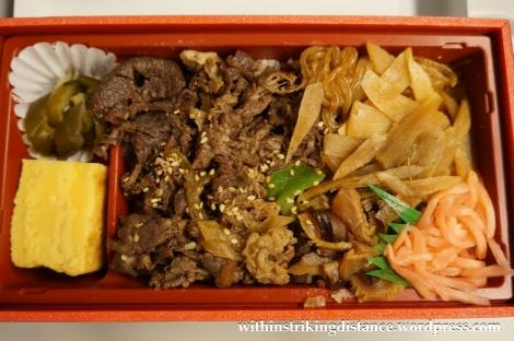 25Nov14 005 Beef Sukiyaki Bento Japan