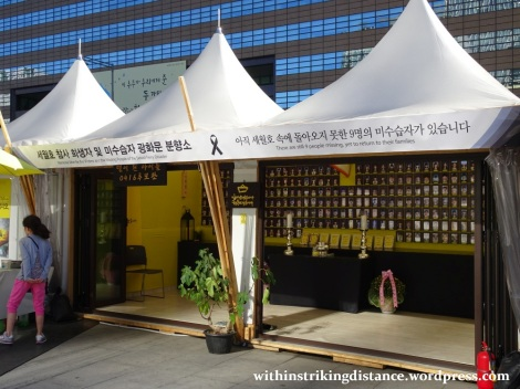 29Sep15 002 South Korea Seoul Gwanghwamun Square Sewol Memorial