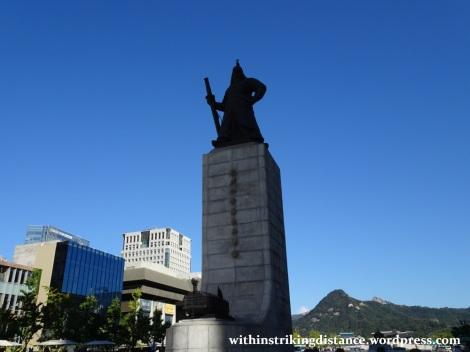 29Sep15 003 South Korea Seoul Gwanghwamun Square Yi Sun-sin Statue