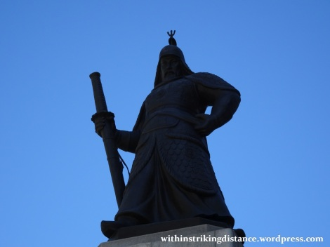 29Sep15 004 South Korea Seoul Gwanghwamun Square Yi Sun-sin Statue