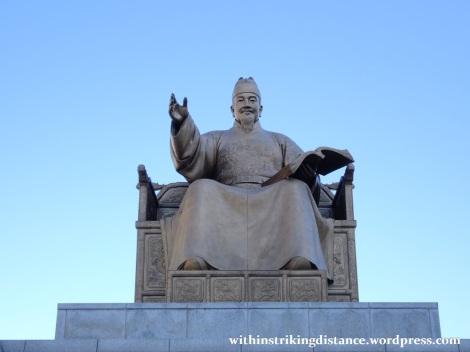 29Sep15 005 South Korea Seoul Gwanghwamun Square King Sejong Statue
