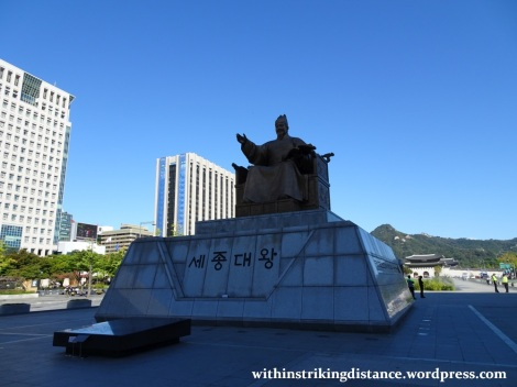 29Sep15 006 South Korea Seoul Gwanghwamun Square King Sejong Statue