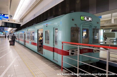 24Mar15 002 Nishitetsu Fukuoka Station Tenjin Omuta Line 5000 series EMU