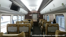 28Jun15 001 Japan Honshu Chizu Express JR West HOT7000 Series DMU Train Green Car