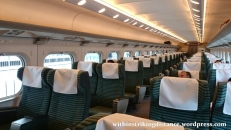 28Jun15 002 Japan Honshu JR West 700 Series Shinkansen Bullet Train Green Car