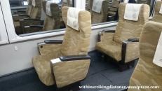 28Jun15 003 Japan Honshu Chizu Express JR West HOT7000 Series DMU Train Green Car