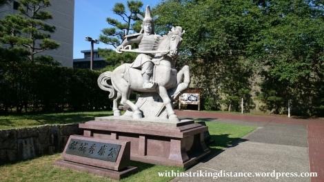 29Jun15 004 Japan Honshu Fukui Castle Yuki Hideyasu Statue