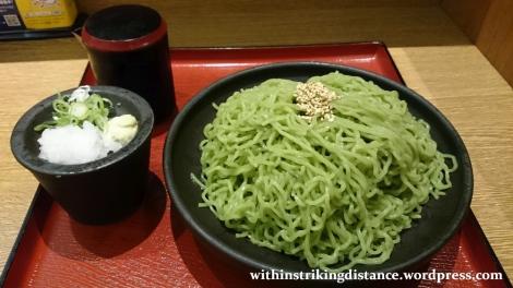 30Jun15 001 Japan Honshu Fukui Station Zaru Ramen Noto Nakajima Greens
