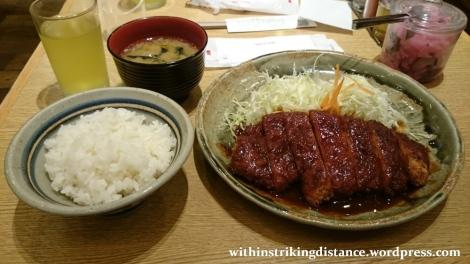 06Jun16 001 Japan Honshu Nagoya Yabaton Miso Rosu Tonkatsu Teishoku Dinner