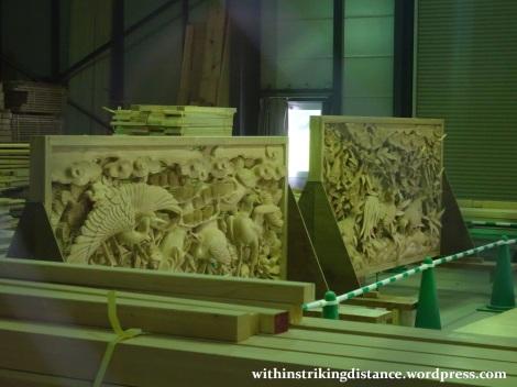06Jun16 031 Japan Honshu Nagoya Castle Honmaru Palace Workshop Jorakuden Screen
