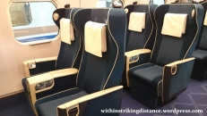 02Jul15 002 JR East Hokuriku Shinkansen E7 Series Train Set F15 Green Car First Class Seat