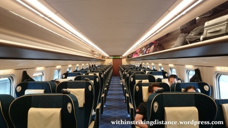 02Jul15 010 JR East Hokuriku Shinkansen E7 Series Train Set F15 Green Car First Class Seat