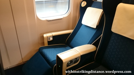 02Jul15 011 JR East Hokuriku Shinkansen E7 Series Train Set F15 Green Car First Class Seat