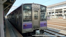 03Jul15 001 Ichinoseki Station JR East Tohoku Main Line 701-1000 Series EMU Train