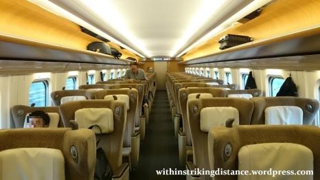 03Jul15 003 Tokyo Ichinoseki JR East Tohoku Shinkansen Yamabiko 43 E5 Series Train Green Car