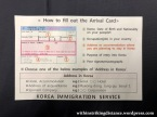 01-02Feb19 023 Korean Air Flight KE 624 Manila MNL Seoul Incheon ICN Immigration Arrival Card